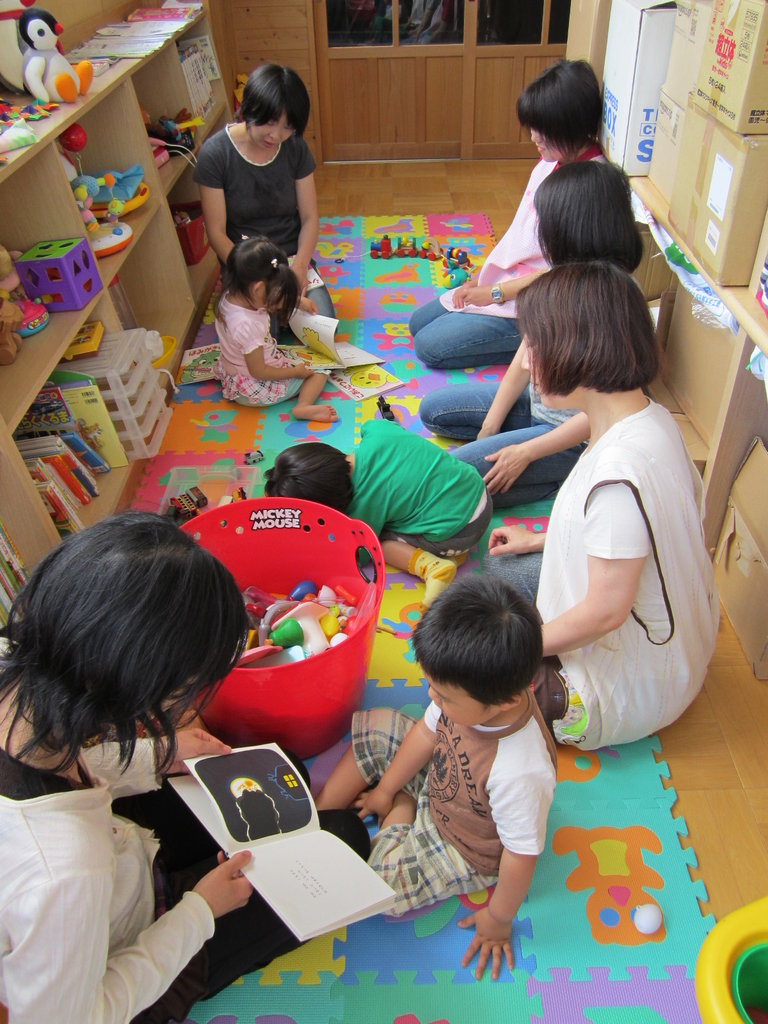 Childcare support at disaster stricken tohoku