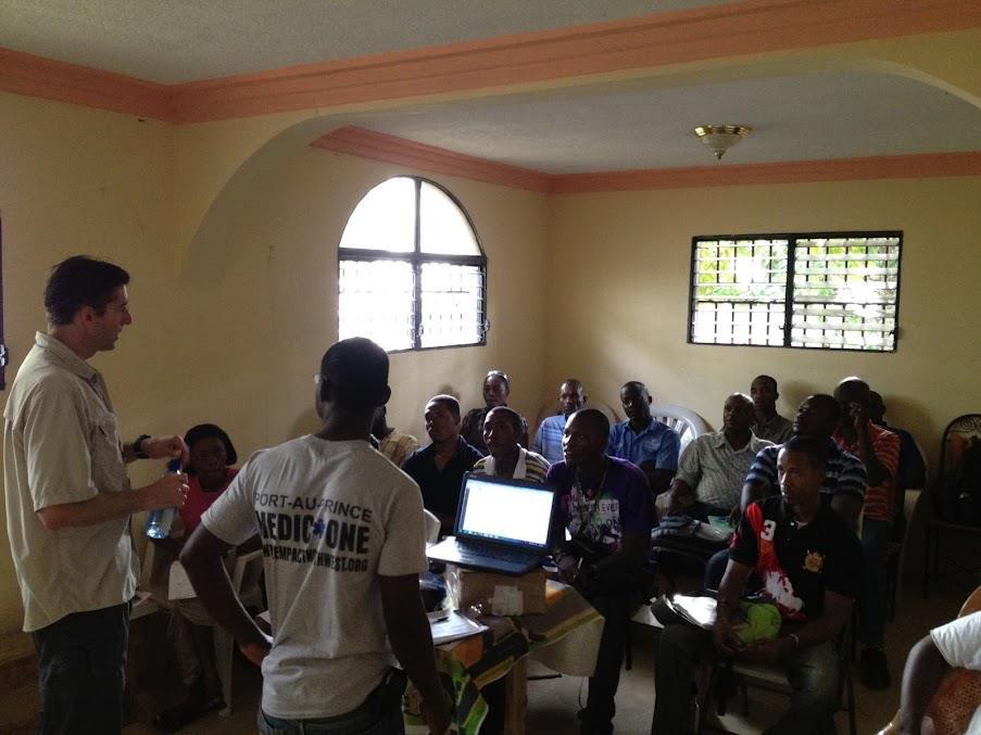 Haitian EMT Instructors deliver course topics