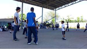 EARTH students celebrated sports day with children