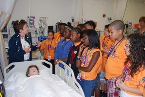thinc students at the nursing lab