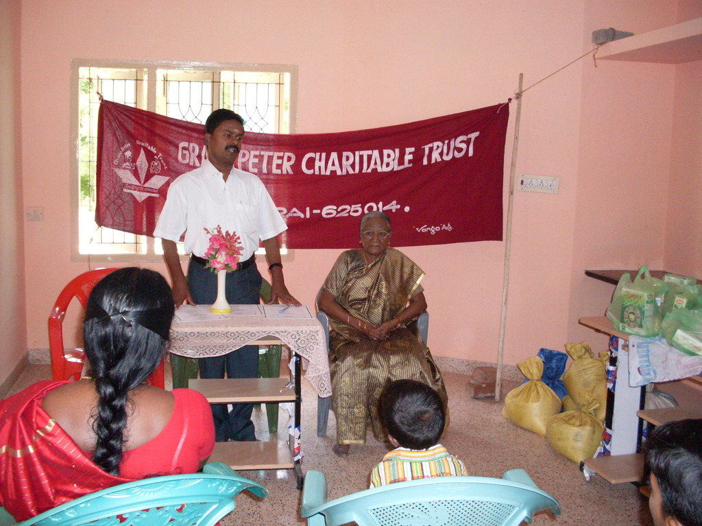 Mr. C.Pitchai delivered counseling for  children