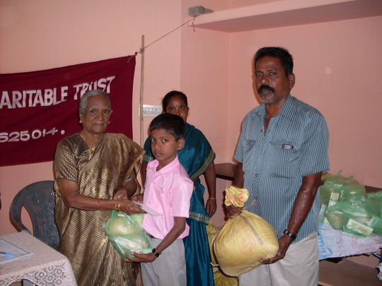 A Target Child is receiving the nutrition food