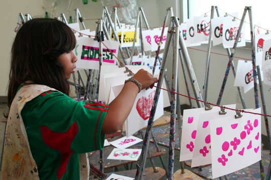 Photos of Students participating in Art classes