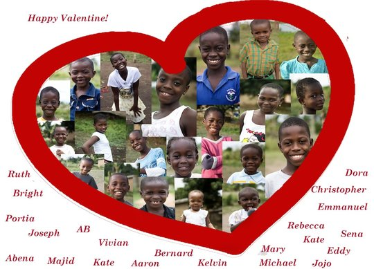 Valentines wishes of our children