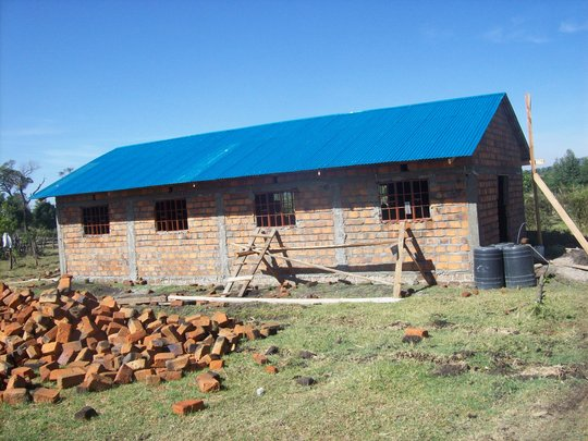 The new dormitory - nearly completed