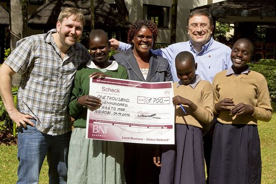 Meeting with donors in Nairobi
