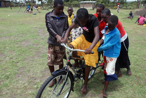 Learning how to ride a bike ...