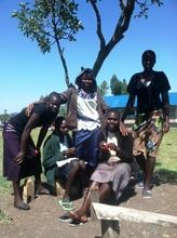 Working on the Maasai bracelets