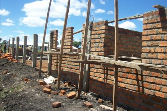 Dining Hall - Building the Walls
