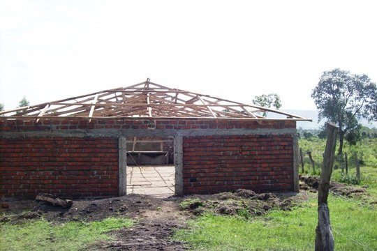Dining Hall - Building the Roof