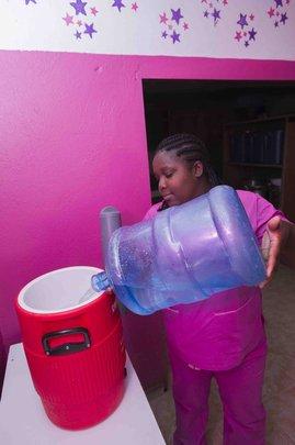 Filling the igloo