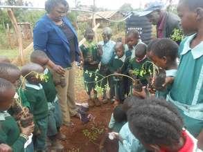 Children receiving training
