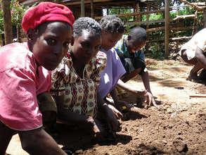 Women planting