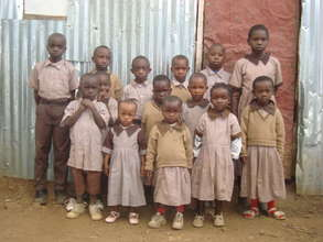 Children with full school uniforms