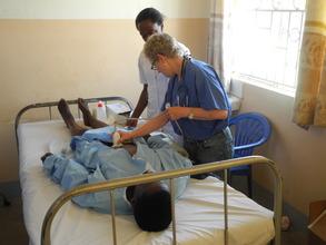 Dr. Linda Taylor screening Migyera women