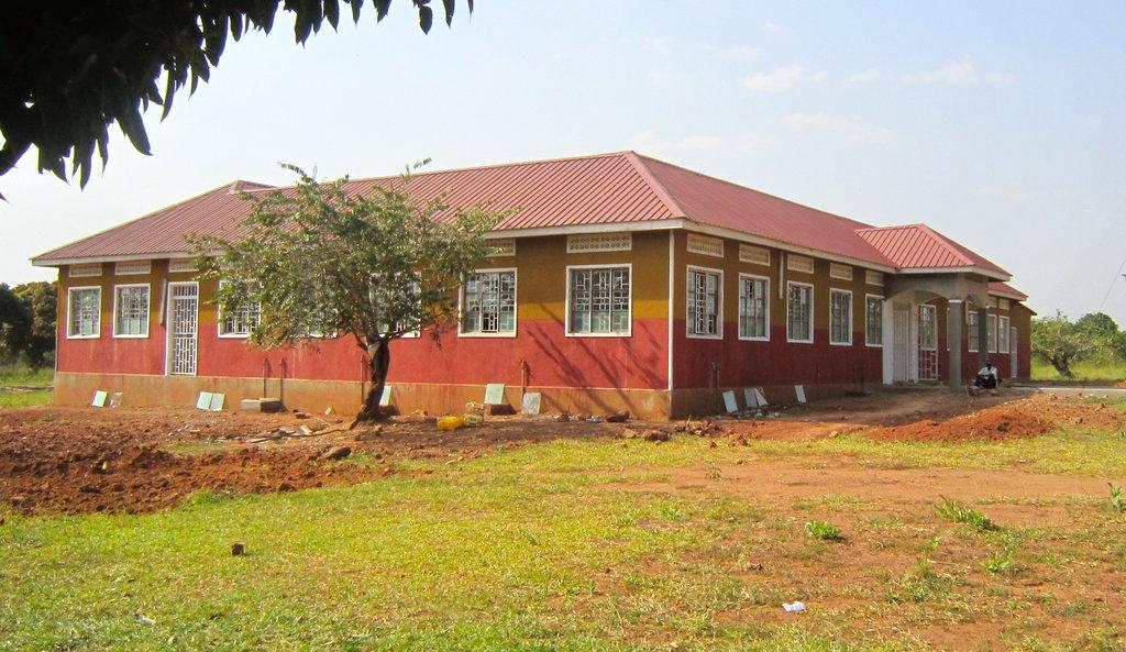 Outside of Migyera Health Center mid-January 2012