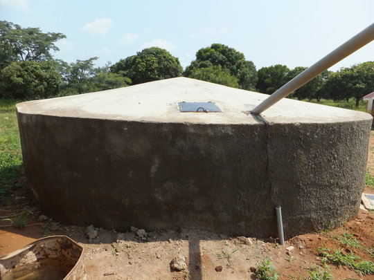 Tank to collect rain water from the roof.