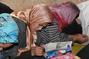 Girls Studying in an AIL Learning Center