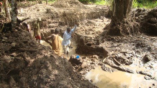 Provide equipment and training to Liberian miners