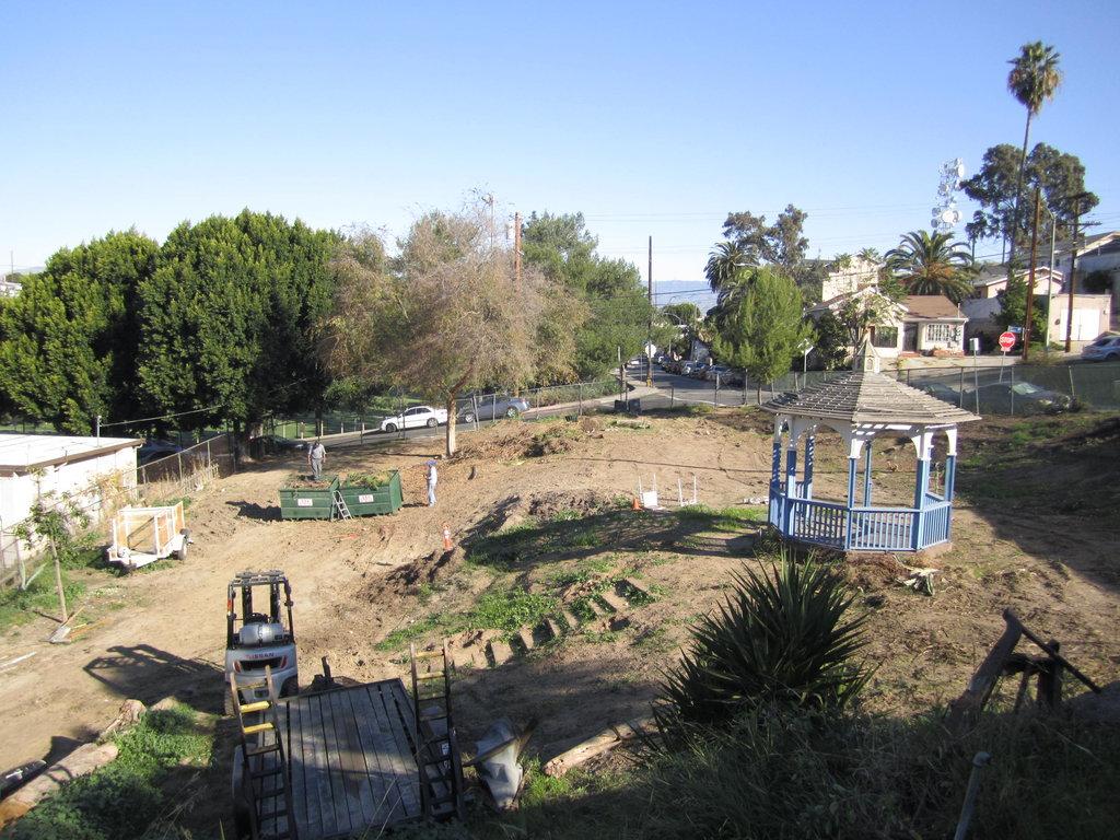 Demolition done - irrigation begins