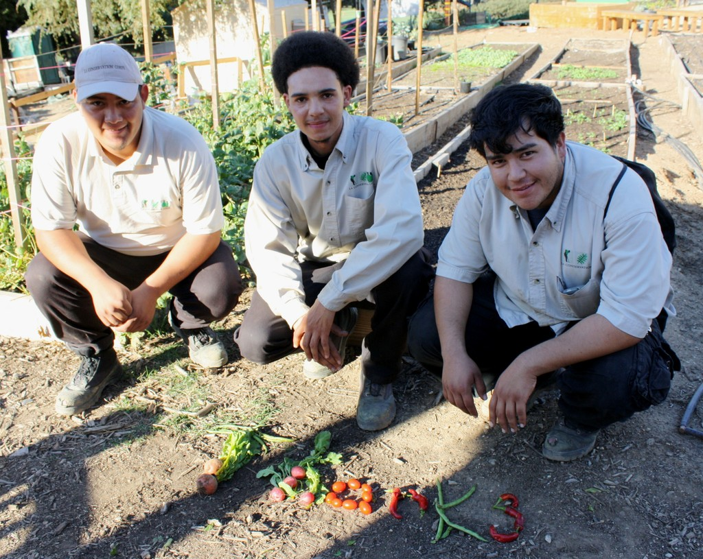 Chris, Cody & Francis send a message with veggies!
