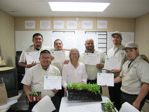 Steve's crew completes gardening training