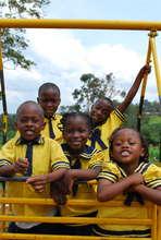 Children at school, on the swing