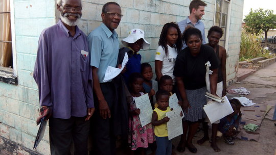A family with their new birth certificates!