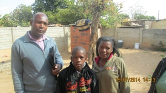 Mr Mpofu and two clients from Magwegwe