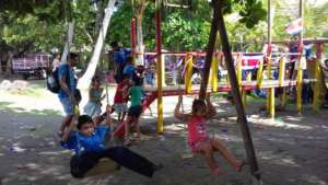 The busy playground