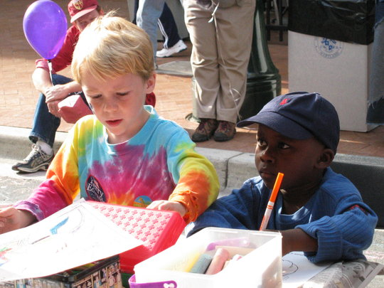 Drawing, Writing, Creating at a Family Event