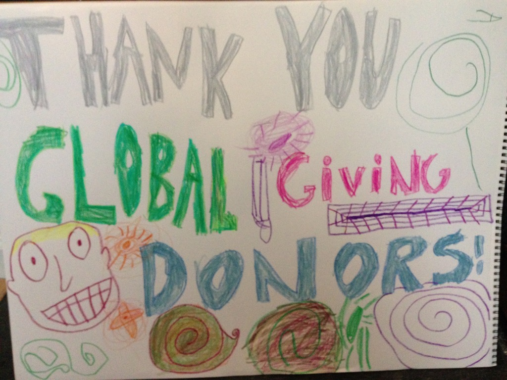Thank You Global Giving Donors