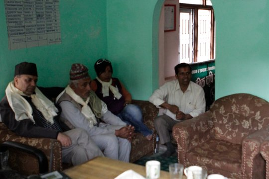 At a meeting with a local NGO in Nepal