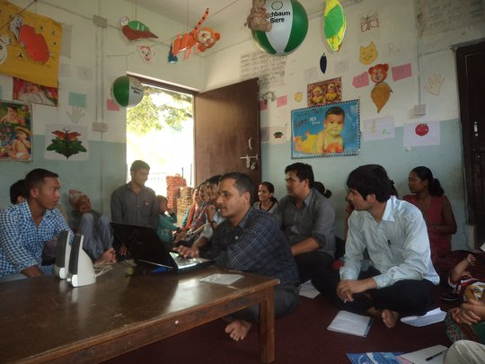 Meeting at NGO in Nepal