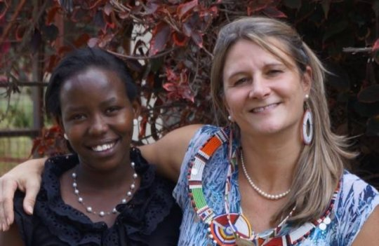 Gloria Mumeita and MGEF President Dr Tracey Pyles