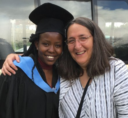 Heather McKay with Dr. Gloria