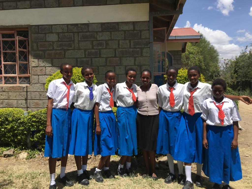 Baraka school girls and Lucy Ntayia