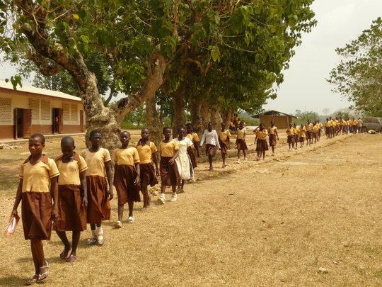 African school girls