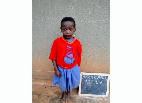 Akankunda Leticia - one year of school at Rushakyi