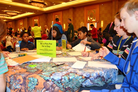 Jan - Penpals get busy writing letters on MLK Day