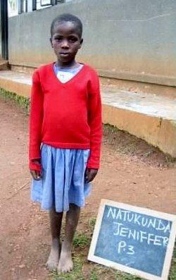 Natukunda Jennifer, 3 years of school at Rushakyi