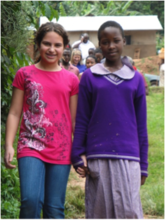 A student from the US visits a Ugandan school!