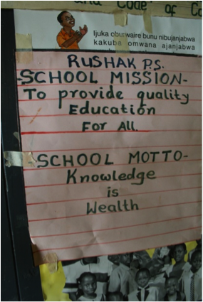 The School Motto from Rushakyi Primary