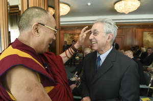 With H.H. the Dalai Lama in Frankfurt Germany