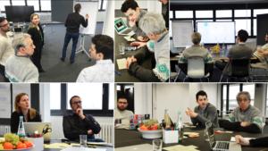 Website development team at work