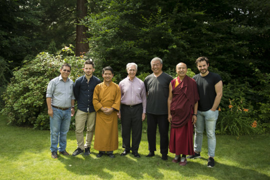 Team meeting with Tsenzhab Serkong Rinpoche II
