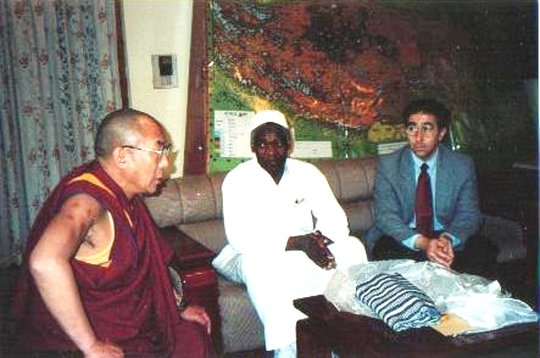 With Dr. Diallo, Sufi Leader of Guinea, Africa