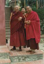 With Lama Yeshe in Pomaia, Italy
