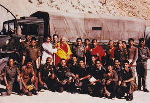 Teaching the Tibetan troops in the Indian army