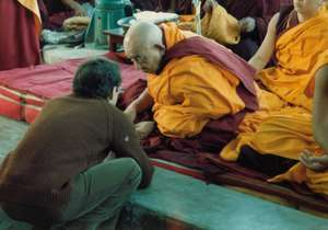 Receiving advice from Tsenzhab Serkong Rinpoche